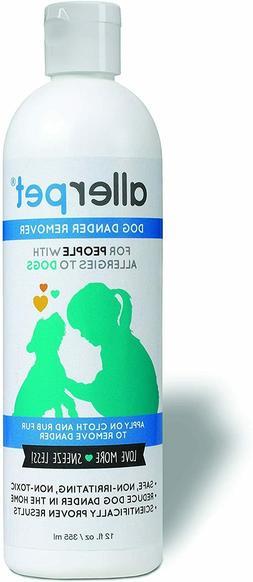 Allerpet 12 Ounce Dog Dander Remover Allergy Relief Allergen