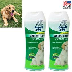 2X Natural Pet Dog Shampoo Medicated Antibacterial Odor Elim