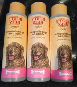 3x Burt's Bees For Dogs HYPOALLERGENIC Shampoo W/Shea Butt