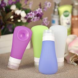 4pcs Silicone Packing Bottle for Lotion Shampoo Shower Gel C