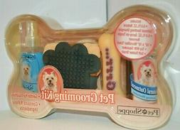 5 PC Pet Shoppe Pet GROOMING Kit DOG Shampoo Squeaker TOY To