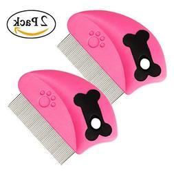 GreeSuit Flea Comb Pet Cat Dog Lice Comb Nit Remover Groomin