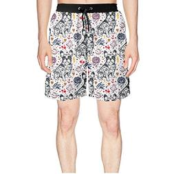 Juliuse Marthar Men's French Bulldog in The Night Sky Swim T