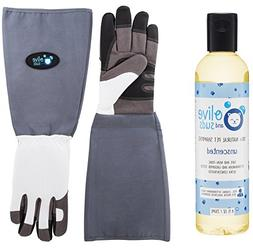 Olive & Suds: Scratch/Bite Resistant Gloves For Bathing, Gro