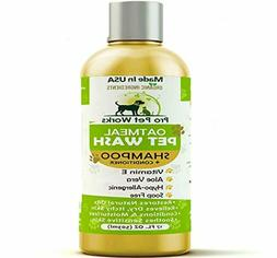 All Natural Organic Oatmeal Pet Dog Shampoo Plus Conditioner