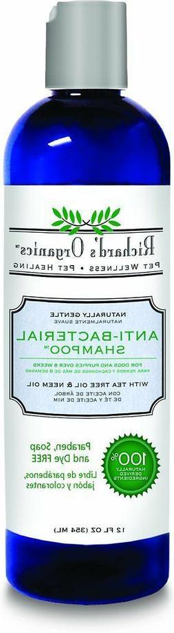 Richard's Organics Anti-Bacterial Dog Shampoo , 12-Ounce