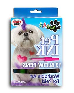 Espree Animal Products Bark Art Pet Ink Blow Pens, 12-Pack