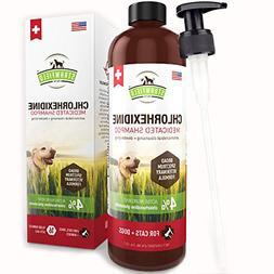 Chlorhexidine Shampoo for Dogs + Cats - 16 oz - Medicated Ca