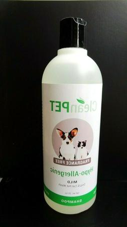 Clean Pet Hypo-Allergenic MILD Dog & Cat Pet Wash Shampoo Fr