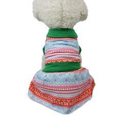 Fitfulvan Clearance!Small Dog Dress Pet Dog Printed Dress Do