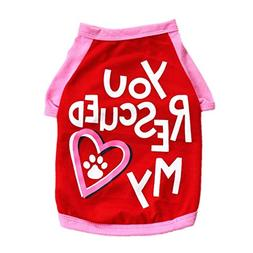 Fitfulvan Clearance!Pet Puppy Summer Footprints Vest Small D