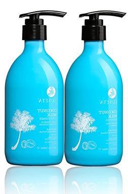 Luseta Coconut Milk Shampoo & Conditioner Set, Nourishing &