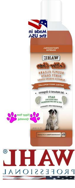 Wahl Critter Clean STINKY DOG FLEA Insect Repellant SHAMPOO
