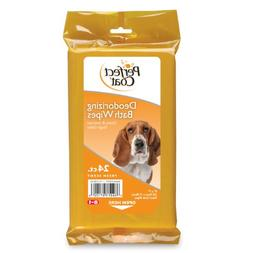 Perfect Coat Deodorizing Bath Wipes for Dogs, 24-Count