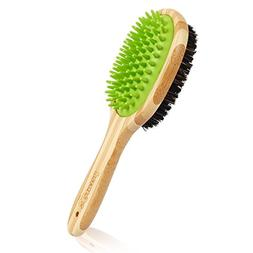Pecute Dog Bath Brush, Pet Dog Grooming Brush for Massage an