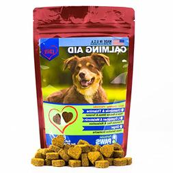 Dog Calming Aid - Treats - Melatonin, L Tryptophan, Chamomil