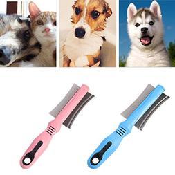 Yangxiyan Dog Cat Hairs Removal Comb Brush,Pet Fur Shedding