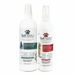Lillian Ruff Dog Detangler Spray & Waterless Dog Shampoo No