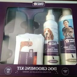 Dog Grooming Kit 5 pc Shampoo Deodorant Wipes Brush Undercoa