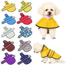 Dog Raincoat Hooded Slicker Poncho for Small to X-Large Dogs