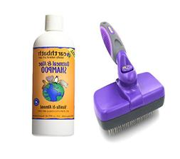 Pack of Dog Self Cleaning Slicker Brush and Earthbath All Na