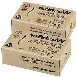 WashBar Natural Dog Shampoo - Twin Pack 100% Natural Soap Ba