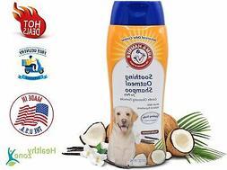 Dog Soothing Oatmeal Shampoo Dry Itchy Skin Vanilla Coconut