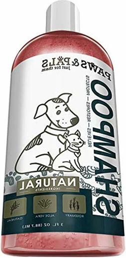 Dog Shampoo For Dry Itchy Skin - Smelly Dogs Cats Oatmeal Sh