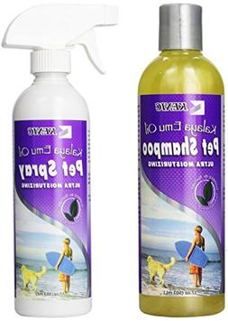 Dog Shampoo for Itchy Skin and Dog Anti Itch Spray Set - All