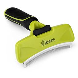 Dog Shedding Brush with Self Cleaning Button Curved Desheddi