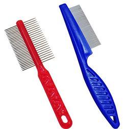 SONKI Double Side Comb Pet Flea Comb For Dogs Cats Pet Puppy
