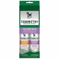Vet's Best Ear Relief Wash & Dry for Dogs Ear Cleaner Kit