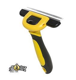 Fifi & Bo. PET CARE Deshedding Tool & Pet Grooming Brush for