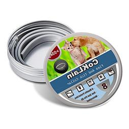 Flea and Tick Collar for Dogs/Cats,Essential Oil Safe Dog Co