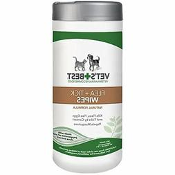 Vet's Best Flea and Tick Wipes for Dogs and Cats, 50 Wipes,