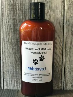 Goats Milk Dog Pet Shampoo With 100% Essential Oils Helps Wi