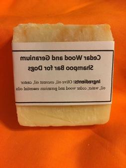 Handmade Dog Shampoo Bar Cedar Wood Geranium Repels Fleas K