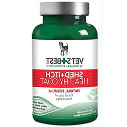 Vet's Best Healthy Coat Shed plus Itch Natural Dog Food Supp