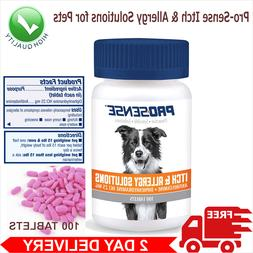 Itch Allergy Relief Dog Supplement 100-Count Chewable Tablet