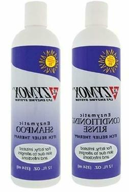Itch Relief Enzymatic Shampoo Conditioning Rinse Bundle For