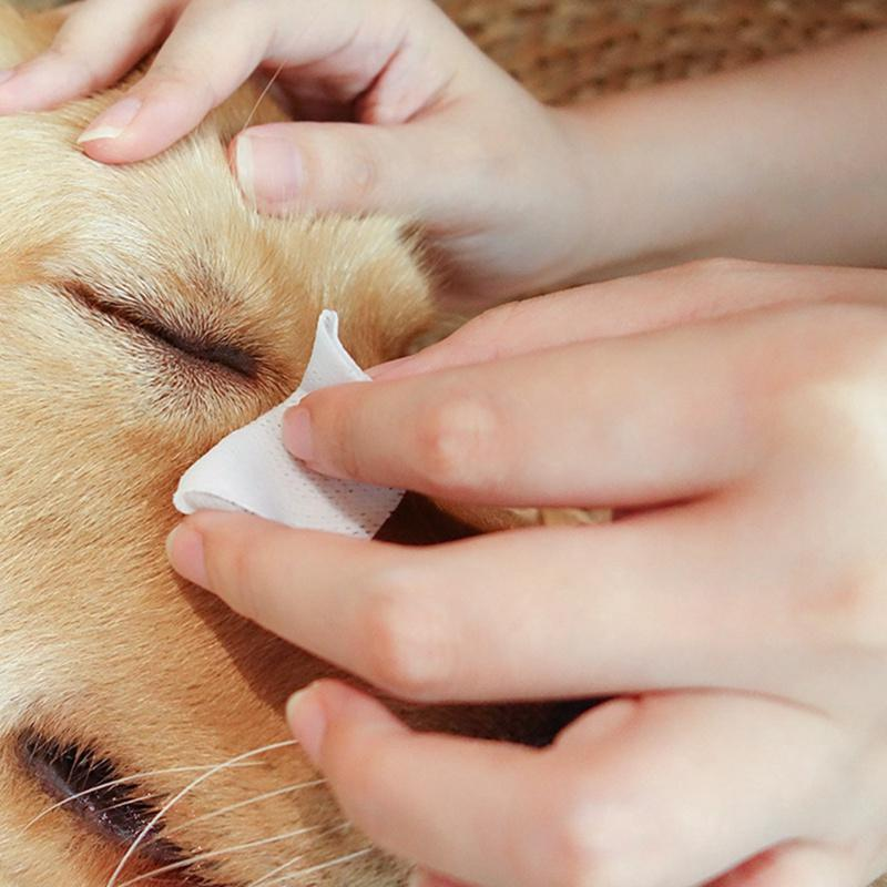 100Pc Wipes <font><b>Dog</b></font> Cleaning Paper Towels Cat Remover Wipes Grooming Supplies Elegant Temperament