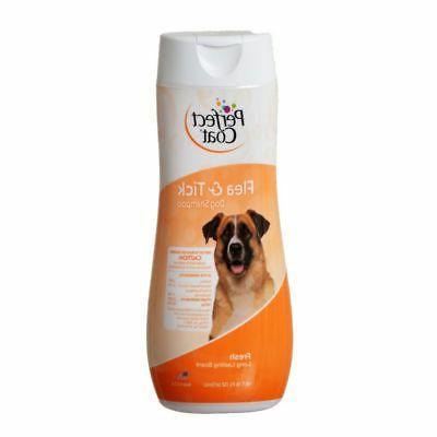 Perfect Coat Flea & Tick Dog Shampoo 16 Oz - Bundle Of 10