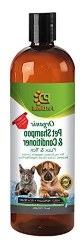 Pet Diesel Flea & Tick Pet Shampoo & Conditioner for Dogs an