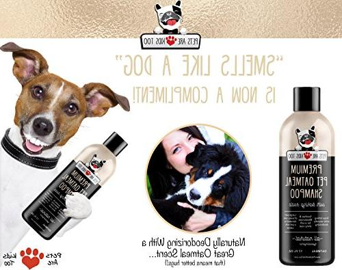 Pet Oatmeal & Smelly Puppy Cat Wash, ALL NATURAL & Provides Relief For Itchy, Dry, Irritated Smells Amazing!