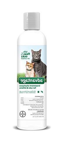 Advantage Shampoo Flea and Tick Treatment for Cats and Kitte