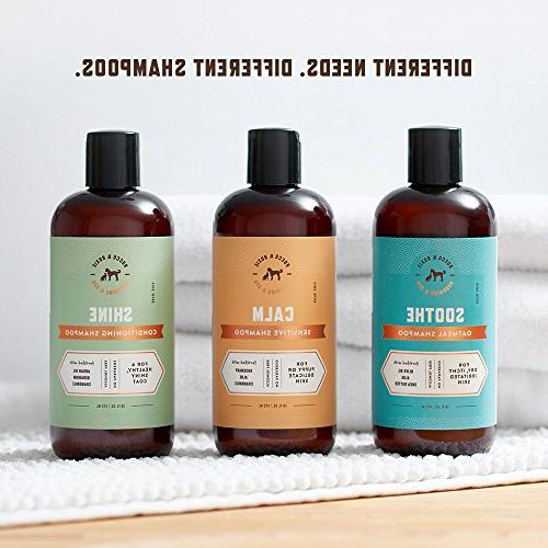 Rocco & Oil Shampoo Conditioner Healthy Coat - with Geranium, Chamomile Best Natural Pet Wash Dogs Bath