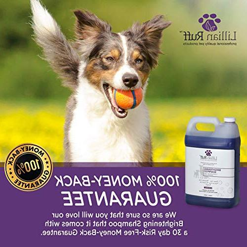 Lillian Ruff Whitening Shampoo for Dogs – Tear Coconut Scent with Aloe Normal, Dry Skin – &