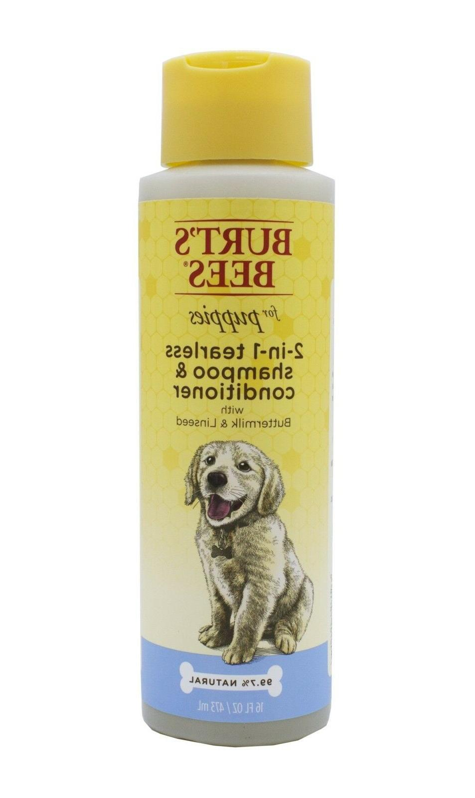 Burt's Puppies Dog Shampoo 2 in 1