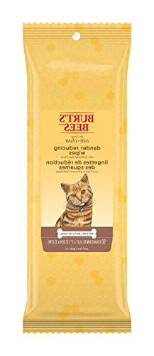Lot of 3 Burt's Bees for Cats Dander Reducing Wipes 3 X 50 C