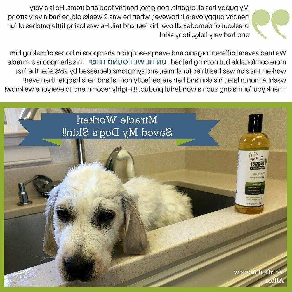 4Legger Certified Organic Shampoo and Hypoallergenic Aloe